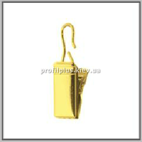 Жабка металическая на кольцо к кованым карнизам цвет золото