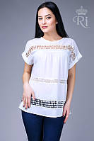 Летняя блуза хлопок белого цвета