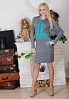 Платье на молнии серое, фото 1