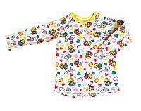 Детская футболка с длинным рукавом 80, рисунок Слоники