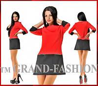 Платье FANNY цвет красный с чёрным размер только S