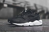 Женские кроссовки Nike Huarache black white, фото 1