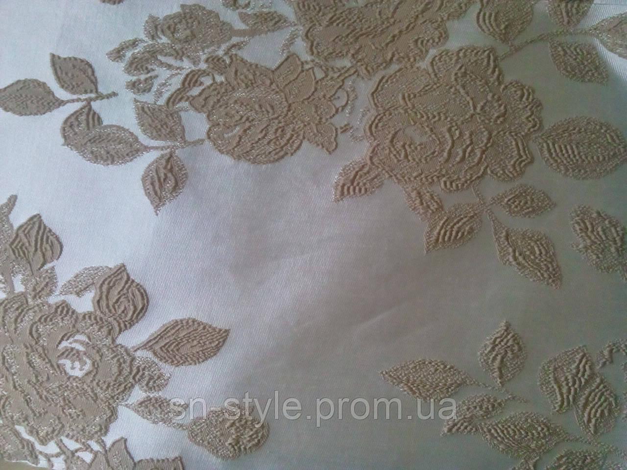 Ткань для штор Sofi Гобелен Роза 03