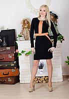 Платье на молнии черное, фото 1