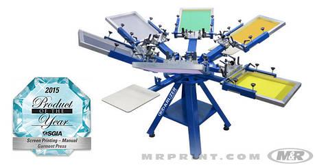 Оборудование шелкотрафаретной печати M&R KRUZER 6 цветов/4 стола, фото 2