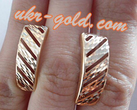 Серьги золотые 585 пробы