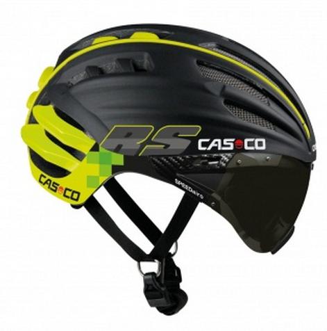 Велошлем с визором Casco SPEEDairo RS black-neon (MD) L (59-63)