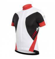 Веломайка Zerorh+ Vertex jersey, белая/черная/красная (MD 15)