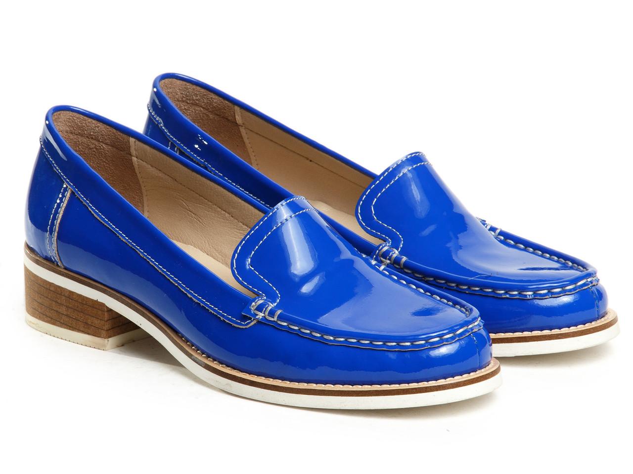 Лоферы Etor 5449-6173-15 синие