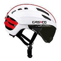 Велошлем с визором Casco SPEEDairo white (MD)