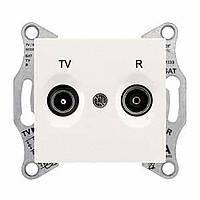 Розетка TV/R розетка проходная (4дб) белая Sedna Schneider Electric