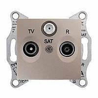 Розетка TV/R розетка проходная (4дб) титан Sedna Schneider Electric