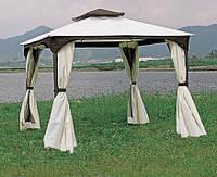 Садовый павильон со шторами и москитными сетками, 3х3м, молнии, вентиляция в навесе