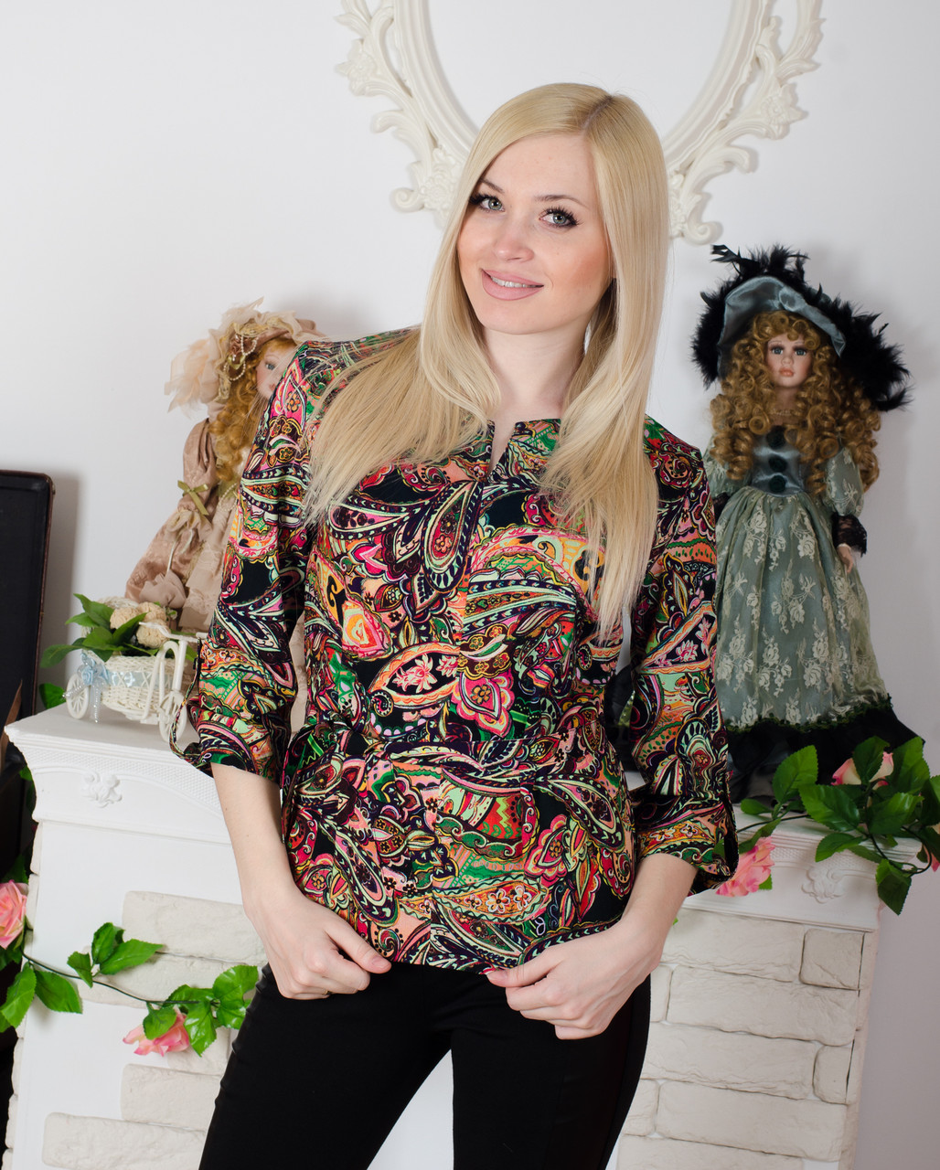 Блузка женская с поясом