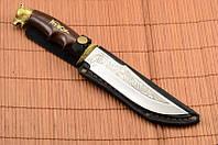 Нож охотничий Медведь сделано в Украине, ручная работа, кожаный чехол и паспорт, фото 1