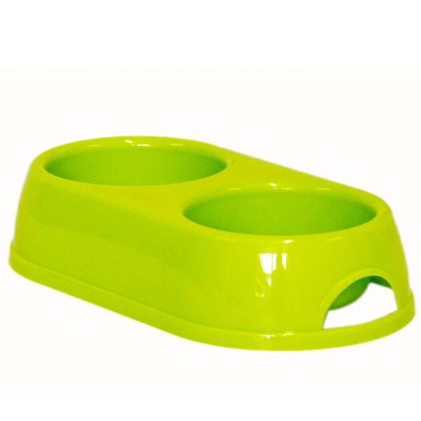 Moderna МОДЕРНА ЭКО двойная миска для собак и кошек, 2х230 мл, d-9 см