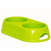 Moderna МОДЕРНА ЭКО двойная миска для собак и кошек, 2х230 мл, d-9 см, фото 1