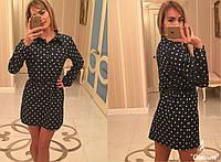 Рубашка-туника-платье женское в горох