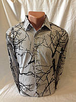 Рубашка мужская LORENTI длинный рукав дерево 001 купить рубашку