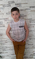 Летняя майка для мальчиков 140,152,164 роста Ярослав