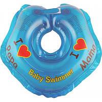 "Круг на шею ТМ Baby Swimmer синий. Серия ""Я люблю"" Вес 3 - 12 кг"