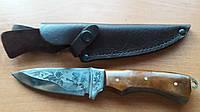 Нож охотничий Крокодил, ручная работа, кожаный чехол в комплекте