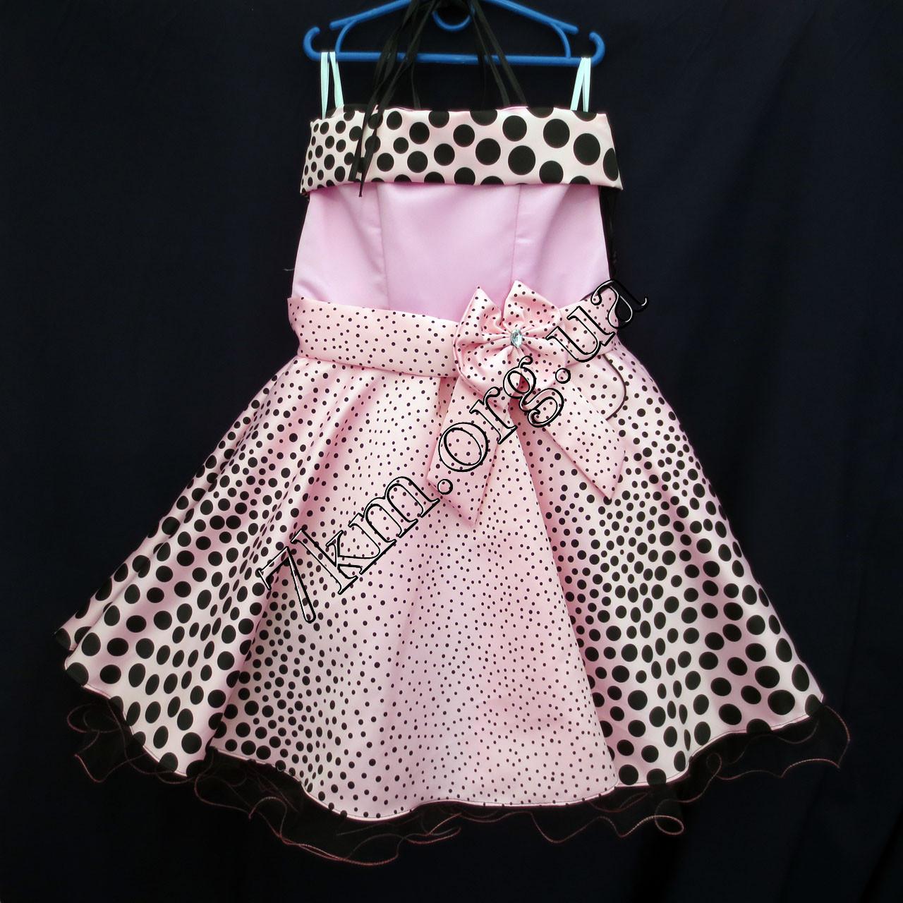 Платье нарядное бальное детское 10 лет Модница горох  Украина оптом.