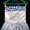 Платье нарядное бальное детское 10 лет Модница горох  Украина оптом., фото 2