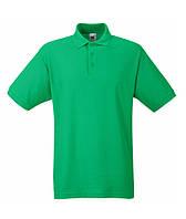 Футболка мужская поло POLO - 63-402-0 ярко-зеленый