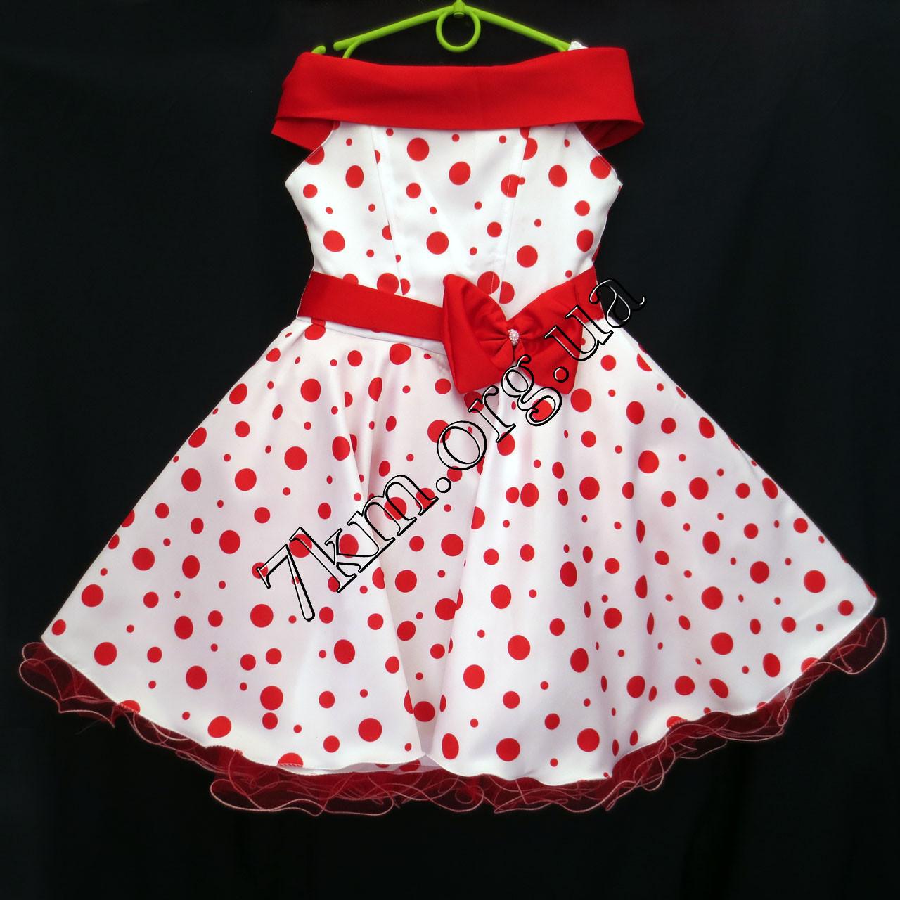 Платье нарядное бальное детское 6-7 лет Планочка  Украина оптом.