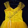 Платье нарядное бальное детское 6-7 лет Сваровски желтое Украина оптом., фото 3