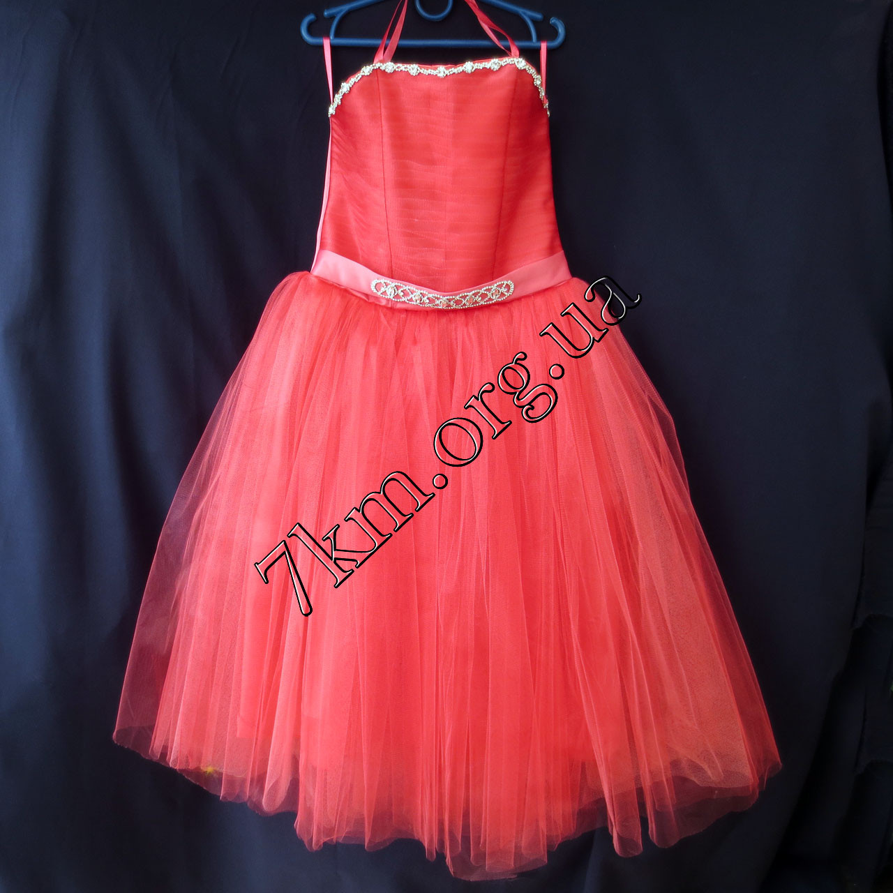 Платье нарядное бальное детское 6-7 лет Царевна коррал Украина оптом.