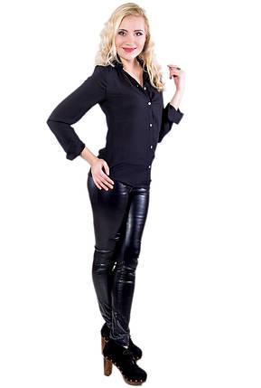 Блузка креп-шифон 216 черная, фото 2