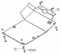 Защита двигателя Кольчуга для Volkswagen Polo кроме 1.4, 1.6 1994-2001 Сталь 2 мм.