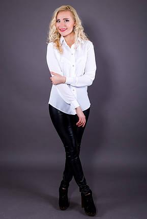 Блузка креп-шифон 216 белая, фото 2