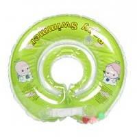 Круг на шею ТМ Baby Swimmer салатовый. Вес 8 - 36 кг