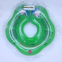 Круг на шею ТМ Baby Swimmer зеленый. Вес 3 - 12 кг