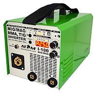 Сварочный инвертор Атом I-180 MIG/MAG B15 Abicor Binzel и кабелями 3+2 Binzel