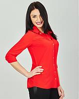 Молодёжные женские блузы-рубашки ярких расцветок