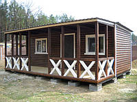 Дачный домик 7м х 3м с террассой