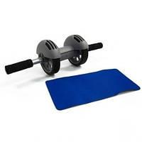 Колесо двойного действия с ковриком Power Stretch Roller