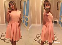 Летнее платье однотонное с поясом