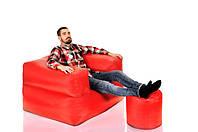 """Набор бескаркасной мебели кресло-мешок и пуфик """"1+1"""""""
