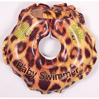 """Круг на шею ТМ Baby Swimmer """"Леопард"""". вес 3 - 12 кг."""