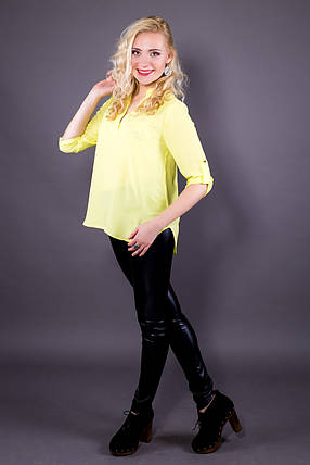 Блузка 207 рукав 3/4 желтый, фото 2