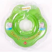 Круг на шею ТМ Baby Swimmer салатовый. вес 3 - 12 кг.