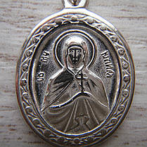 Серебряная подвеска-ладанка Святая Юлия, фото 2