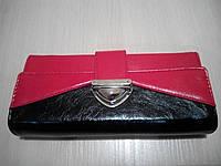 Кошелек женский, двухцветный, красный 588-13, фото 1