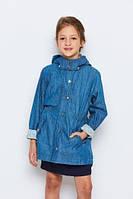 Плащик джинсовый для девочек, размеры 134-164, Glostory, арт. GFY-1024