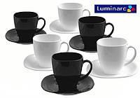 Чайный набор (220 мл) 12 пр Luminarc Carine Black&White  d2371